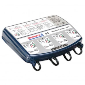 Battery charger OPTIMATE 3, for 12 V batteries - Amp: 2 - 30 Ah - Loading charge: 0,8 A - with desulphation function - Ideal for testing/charging 4 batteries at the same time.