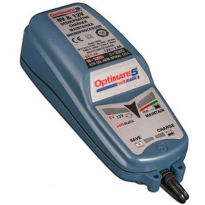 Battery charger OPTIMATE 5 VOLTMATIC, for 6 V and 12 V batteries - Amp: 7,5 - 120 ah - Loading charge: 2,8 A (12 V) and 4,0 A (6 V) - with desulphation function