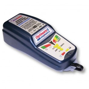 Battery charger OPTIMATE 6, for 12 V batteries - Amp: 2 - 240 Ah - Loading charge: 0,5 - 5,0 A - with desulphation function - Advanced functions - Ampmatic: automatic charge control