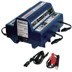 Battery charger OPTIMATE PRO-4 - for 4 x 12 V motorcycle batteries - Saves batteries as low as 0,5V - Charge series connected batteries - Ideal for large PTW workshops.