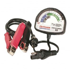 Battery tester OPTIMATE - Tester for all 12 V lead-acid and Lithium LFP/LiFePO4 batteries - Charge status : result in Volt and % - Led indicators