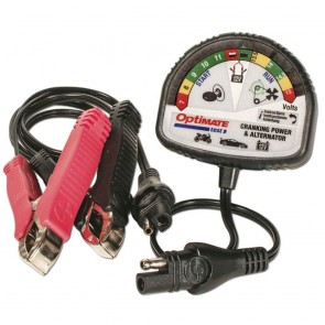 Battery tester OPTIMATE - Battery tester and charging system/alternator, test in 3 fases - Checks the charge level of the Battery - Registers lowest Starter tension
