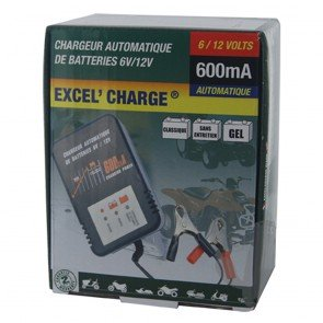 Battery charger XL 600 - Ideal for batteries of 6 & 12 V - Amp: 5 - 32 Ah - Loading charge: 0,6 A
