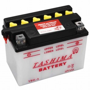 Battery 12V, 4A. L: 120, w: 70, H: 92mm, + right for motorcycles. (acid not included).