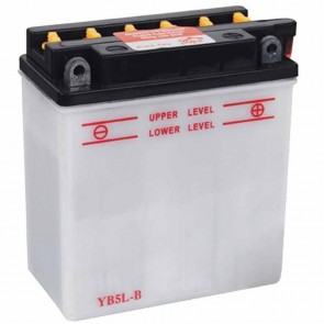 Battery 12V, 5A. L: 120, w: 60, H: 130mm, + right for scooter, motorcycles. (acid not included).